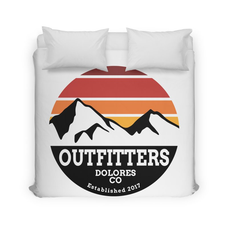 Dolores Outfitters Sunset Logo Home Duvet by dolores outfitters's Artist Shop