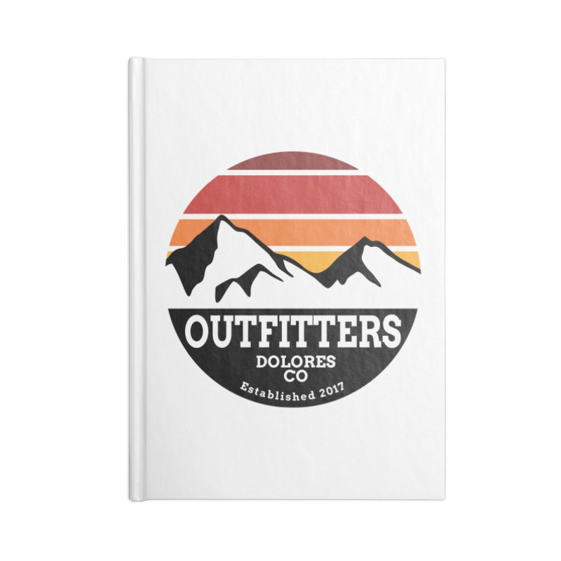 Dolores Outfitters Sunset Logo Accessories Blank Journal Notebook by dolores outfitters's Artist Shop