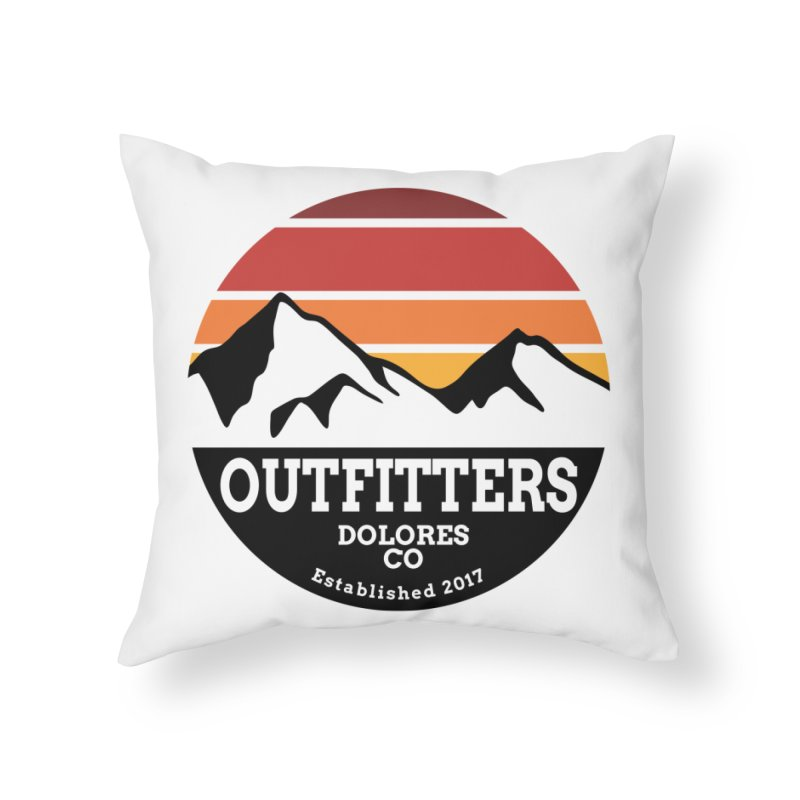 Dolores Outfitters Sunset Logo Home Throw Pillow by dolores outfitters's Artist Shop