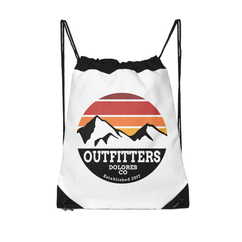 Dolores Outfitters Sunset Logo Accessories Drawstring Bag Bag by dolores outfitters's Artist Shop