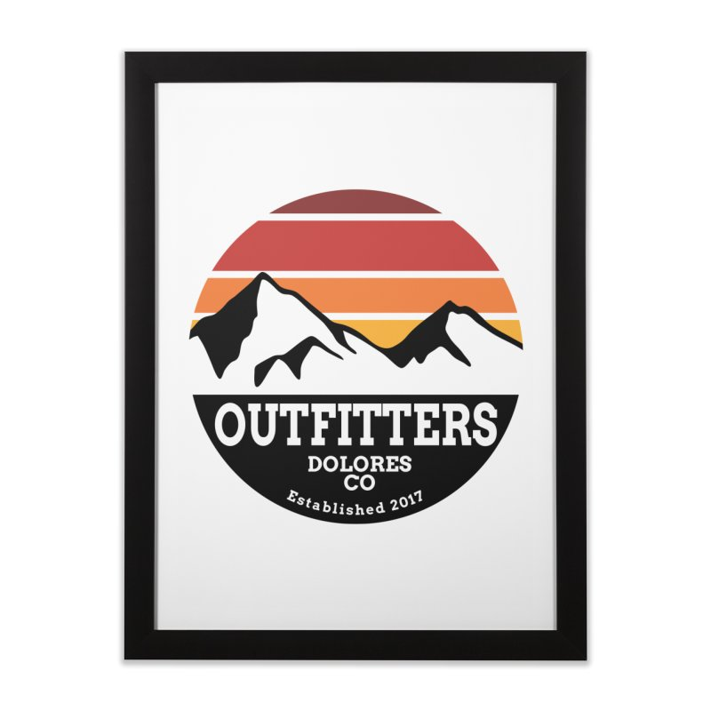 Dolores Outfitters Sunset Logo Home Framed Fine Art Print by dolores outfitters's Artist Shop