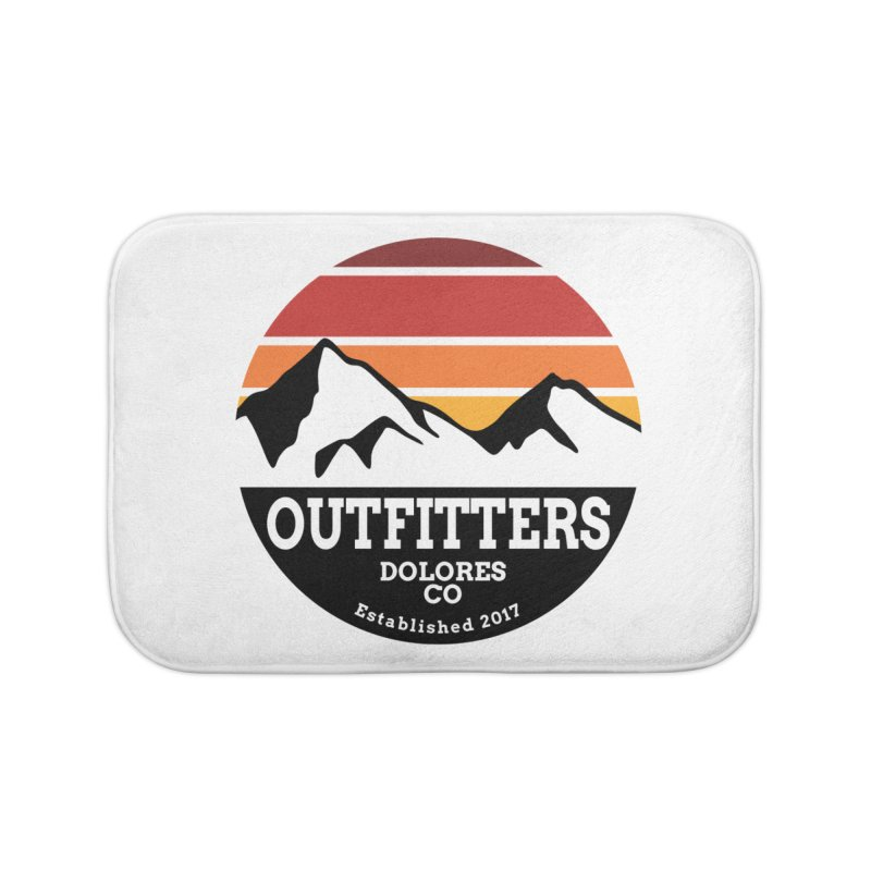 Dolores Outfitters Sunset Logo Home Bath Mat by dolores outfitters's Artist Shop
