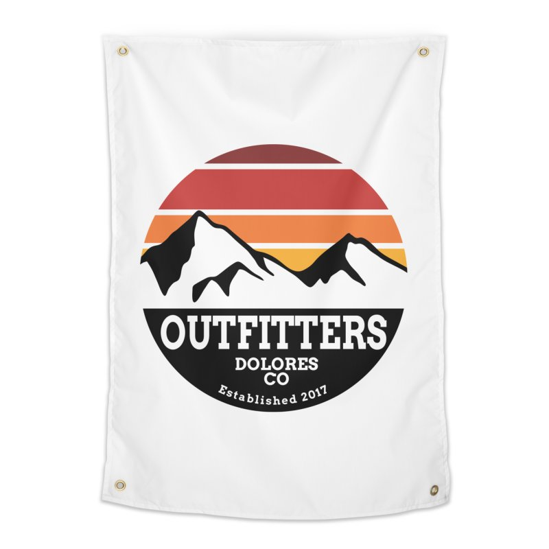 Dolores Outfitters Sunset Logo Home Tapestry by dolores outfitters's Artist Shop
