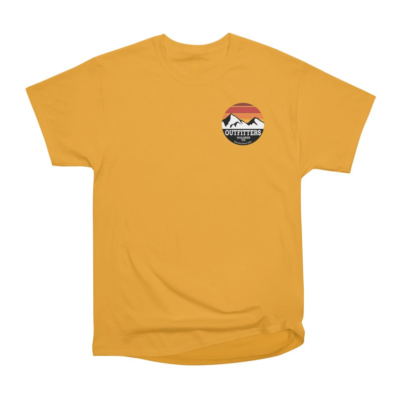 Dolores Outfitters Sunset Logo Men's Heavyweight T-Shirt by dolores outfitters's Artist Shop