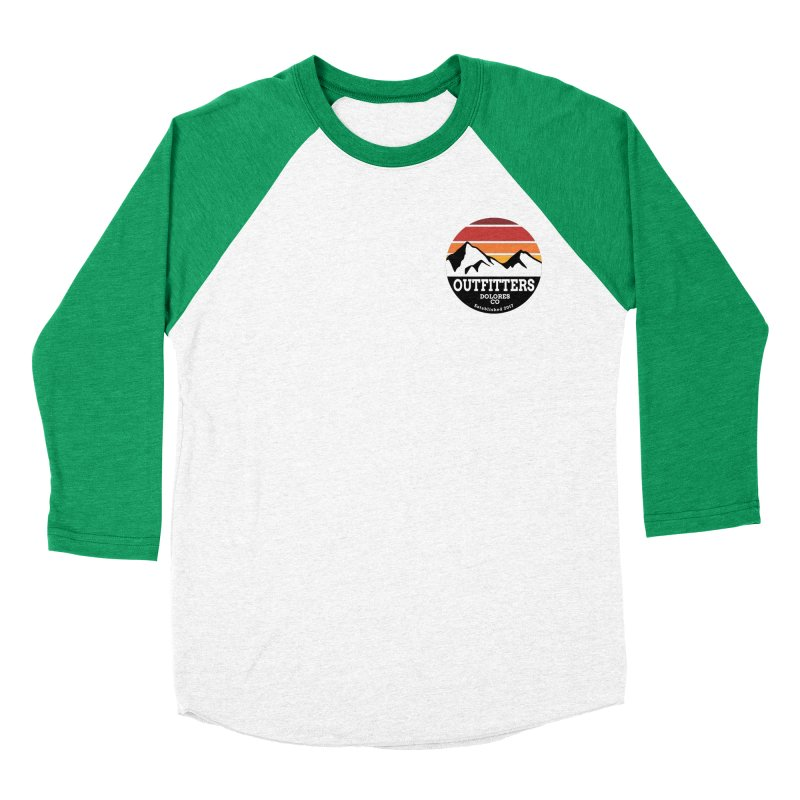 Dolores Outfitters Sunset Logo Men's Baseball Triblend Longsleeve T-Shirt by dolores outfitters's Artist Shop