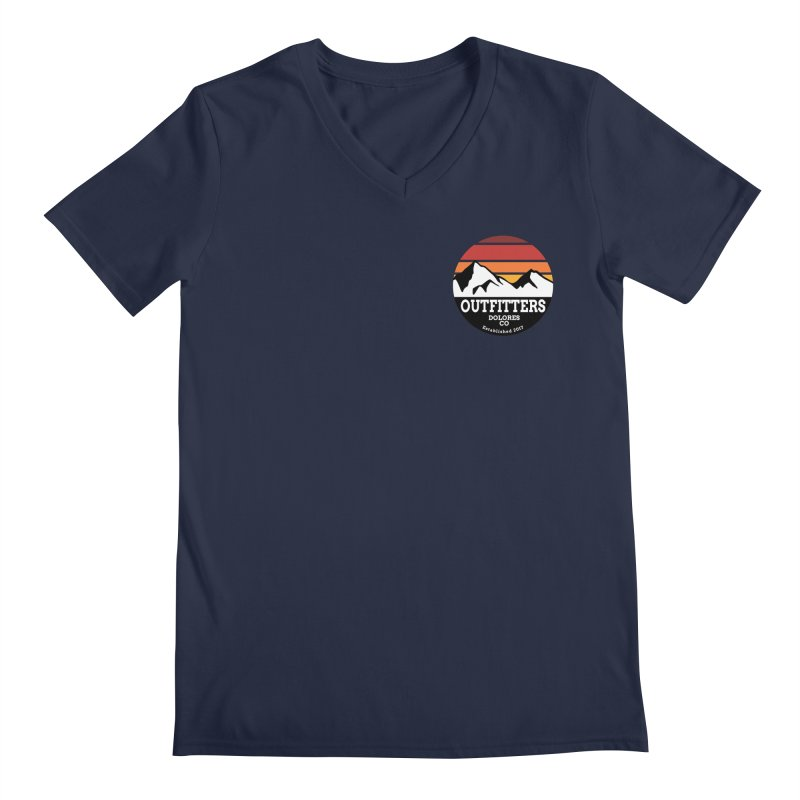 Dolores Outfitters Sunset Logo Men's Regular V-Neck by dolores outfitters's Artist Shop