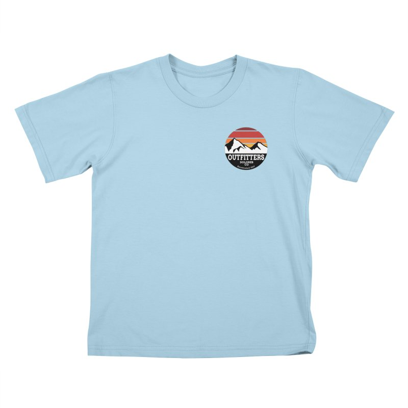 Dolores Outfitters Sunset Logo Kids T-Shirt by dolores outfitters's Artist Shop