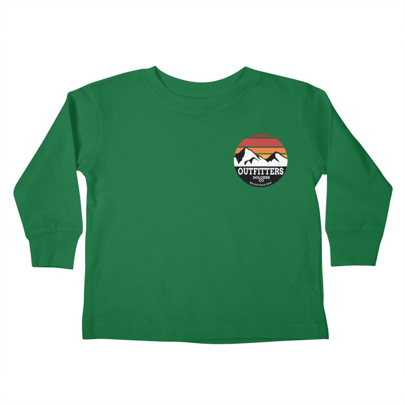 Dolores Outfitters Sunset Logo Kids Toddler Longsleeve T-Shirt by dolores outfitters's Artist Shop
