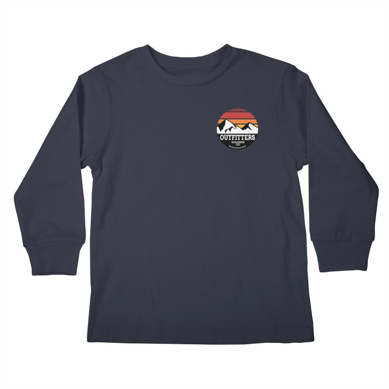 Dolores Outfitters Sunset Logo Kids Longsleeve T-Shirt by dolores outfitters's Artist Shop