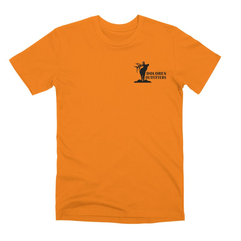 Outfitters Hunter Orange Men's T-Shirt by dolores outfitters's Artist Shop