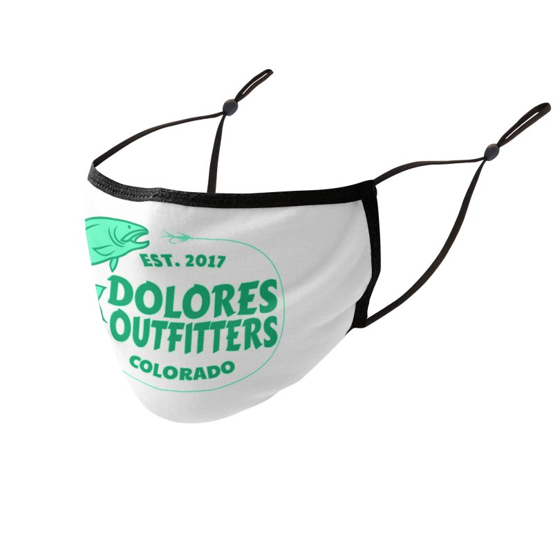 Outfitters Fly Fish Accessories Face Mask by dolores outfitters's Artist Shop