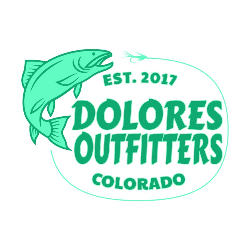 Outfitters Fly Fish Accessories Sticker by dolores outfitters's Artist Shop