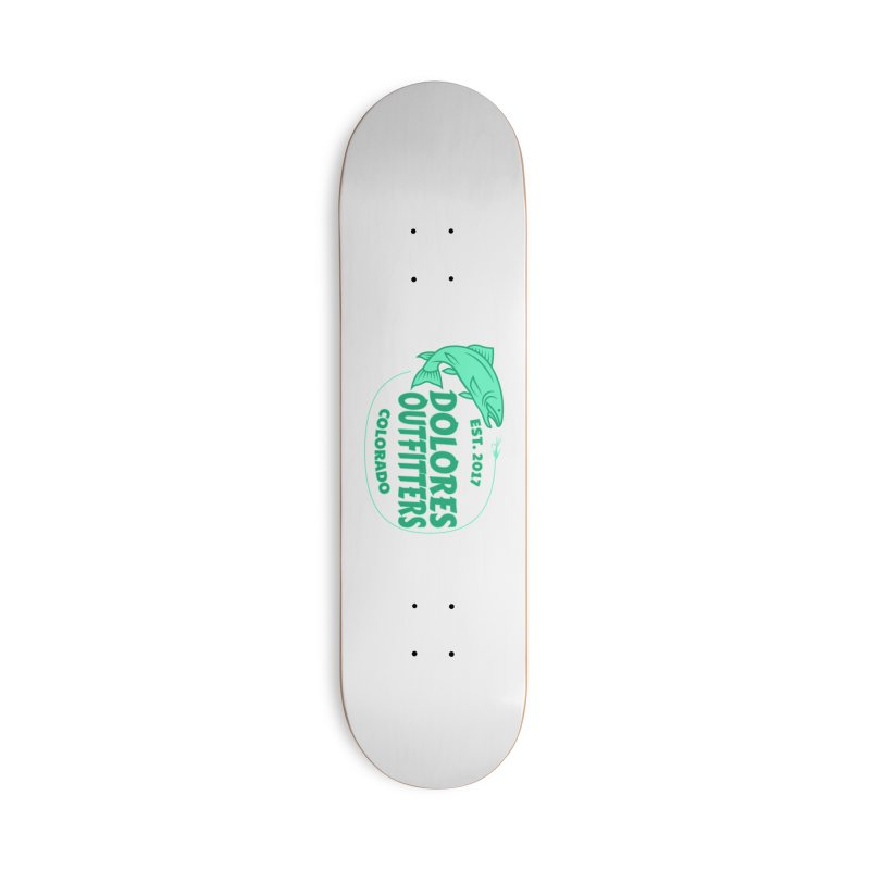 Outfitters Fly Fish Accessories Skateboard by dolores outfitters's Artist Shop