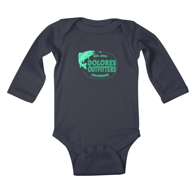 Outfitters Fly Fish Kids Baby Longsleeve Bodysuit by dolores outfitters's Artist Shop