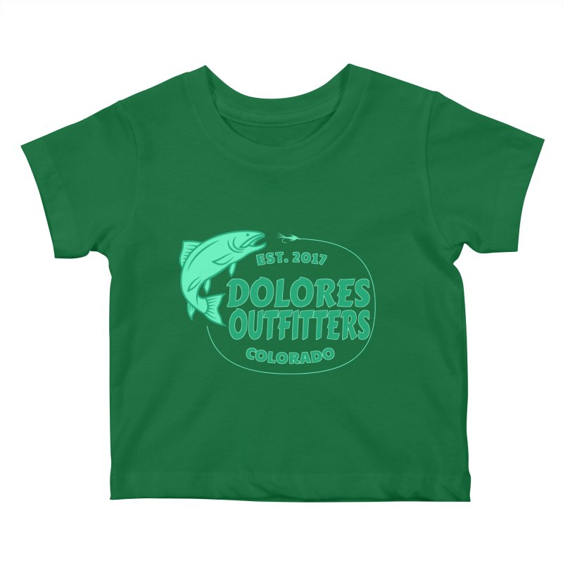 Outfitters Fly Fish Kids Baby T-Shirt by dolores outfitters's Artist Shop