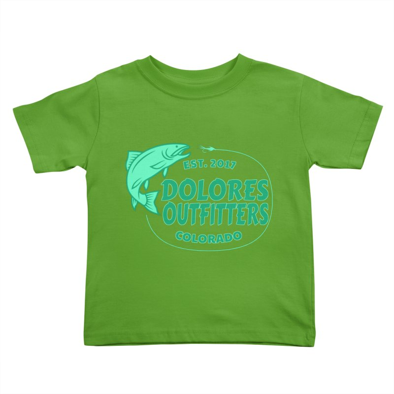 Outfitters Fly Fish Kids Toddler T-Shirt by dolores outfitters's Artist Shop