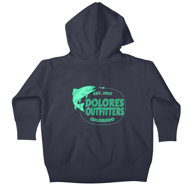 Outfitters Fly Fish Kids Baby Zip-Up Hoody by dolores outfitters's Artist Shop