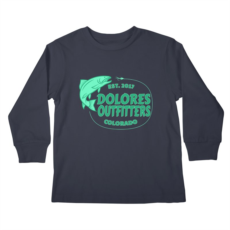 Outfitters Fly Fish Kids Longsleeve T-Shirt by dolores outfitters's Artist Shop