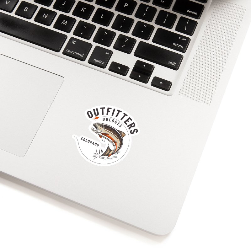 Outfitters Fly Accessories Sticker by dolores outfitters's Artist Shop