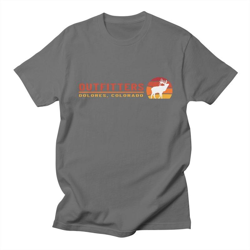 Sunset Elk Men's T-Shirt by dolores outfitters's Artist Shop