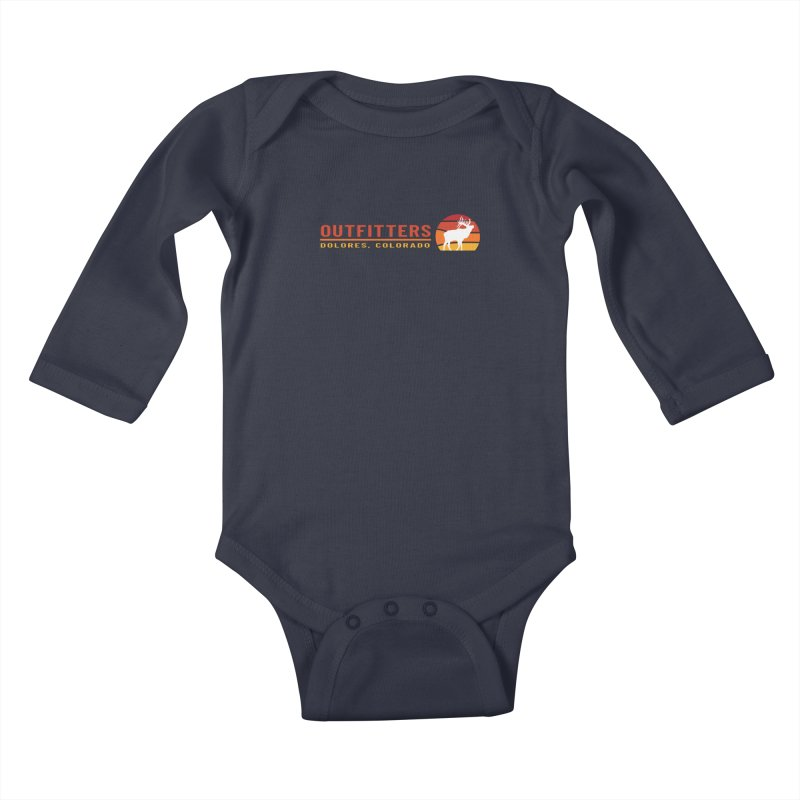 Sunset Elk Kids Baby Longsleeve Bodysuit by dolores outfitters's Artist Shop