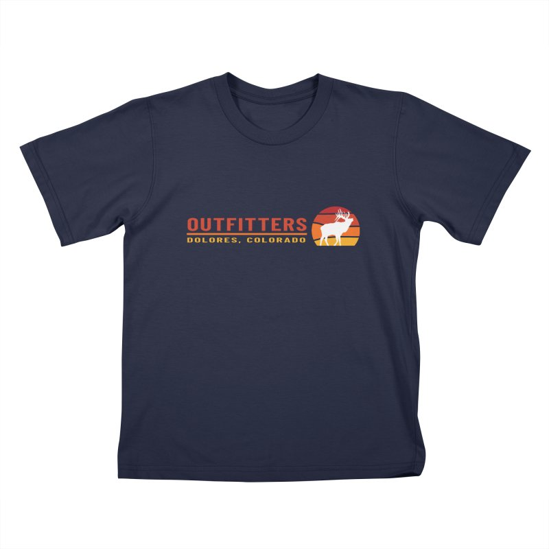 Sunset Elk Kids T-Shirt by dolores outfitters's Artist Shop