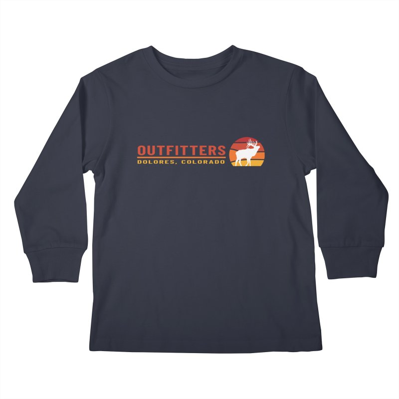 Sunset Elk Kids Longsleeve T-Shirt by dolores outfitters's Artist Shop