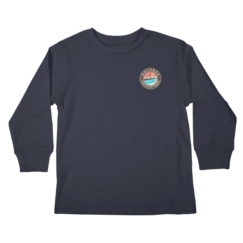 River and Mountains Kids Longsleeve T-Shirt by dolores outfitters's Artist Shop