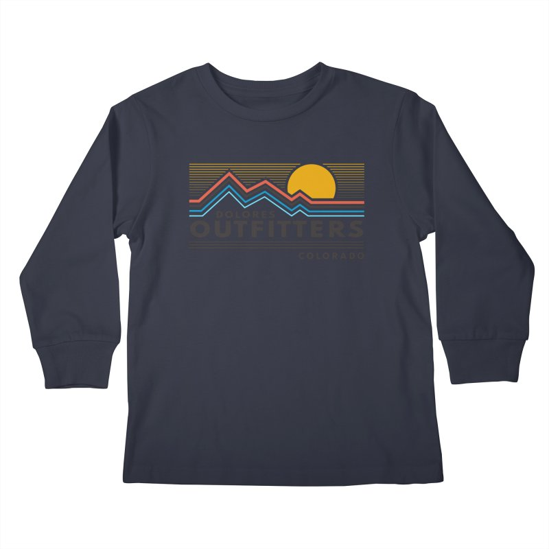 Sunrise Mountains Kids Longsleeve T-Shirt by dolores outfitters's Artist Shop