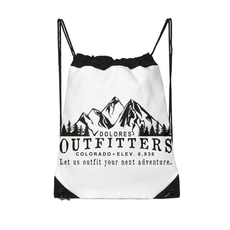 Dolores Outfitters Logo Accessories Drawstring Bag Bag by dolores outfitters's Artist Shop