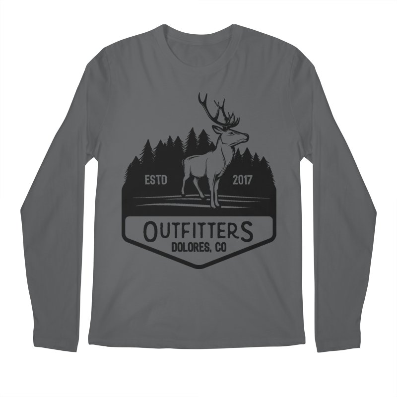 Outfitters Deer Logo Men's Longsleeve T-Shirt by dolores outfitters's Artist Shop