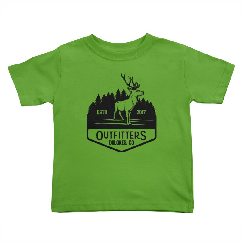 Outfitters Deer Logo Kids Toddler T-Shirt by dolores outfitters's Artist Shop