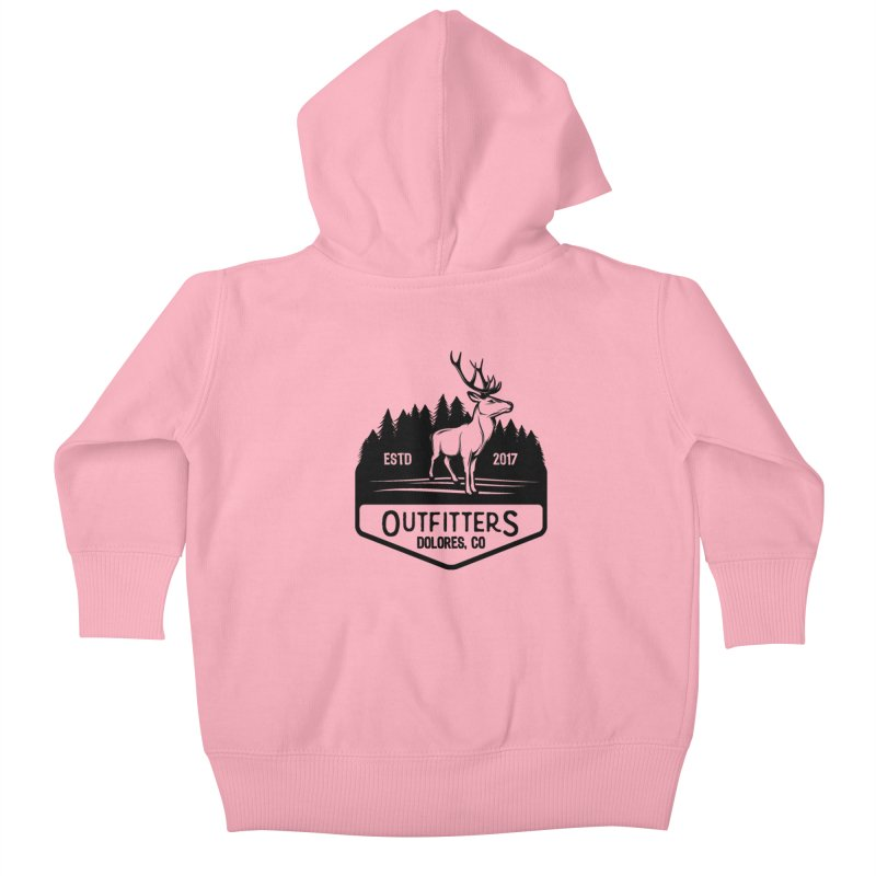 Outfitters Deer Logo Kids Baby Zip-Up Hoody by dolores outfitters's Artist Shop