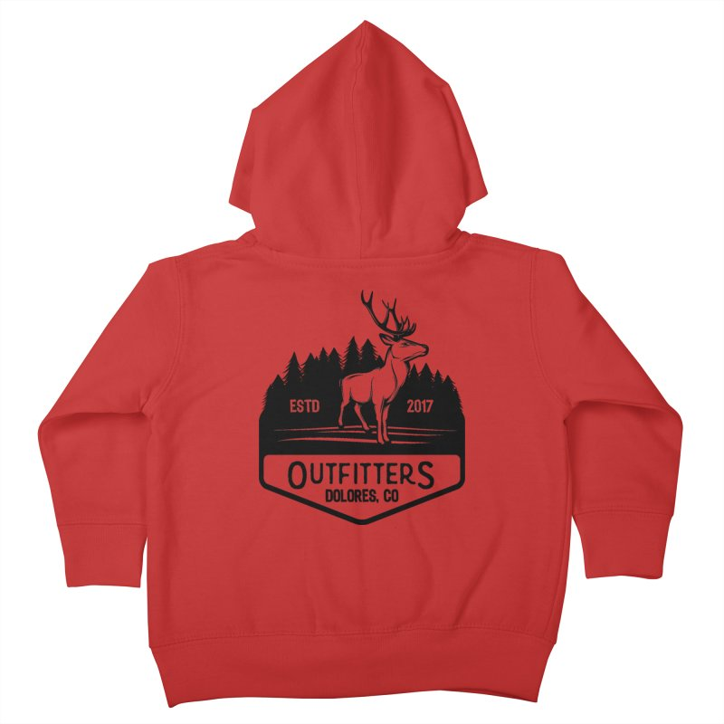 Outfitters Deer Logo Kids Toddler Zip-Up Hoody by dolores outfitters's Artist Shop