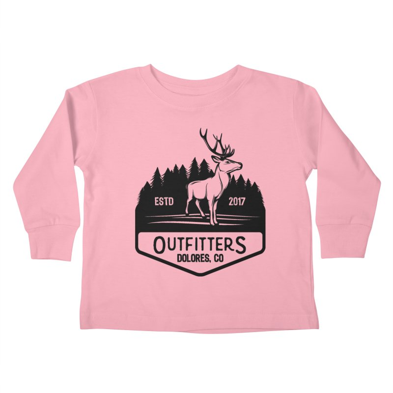 Outfitters Deer Logo Kids Toddler Longsleeve T-Shirt by dolores outfitters's Artist Shop