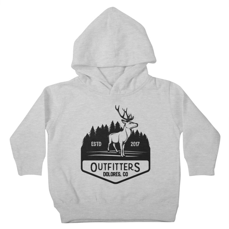Outfitters Deer Logo Kids Toddler Pullover Hoody by dolores outfitters's Artist Shop