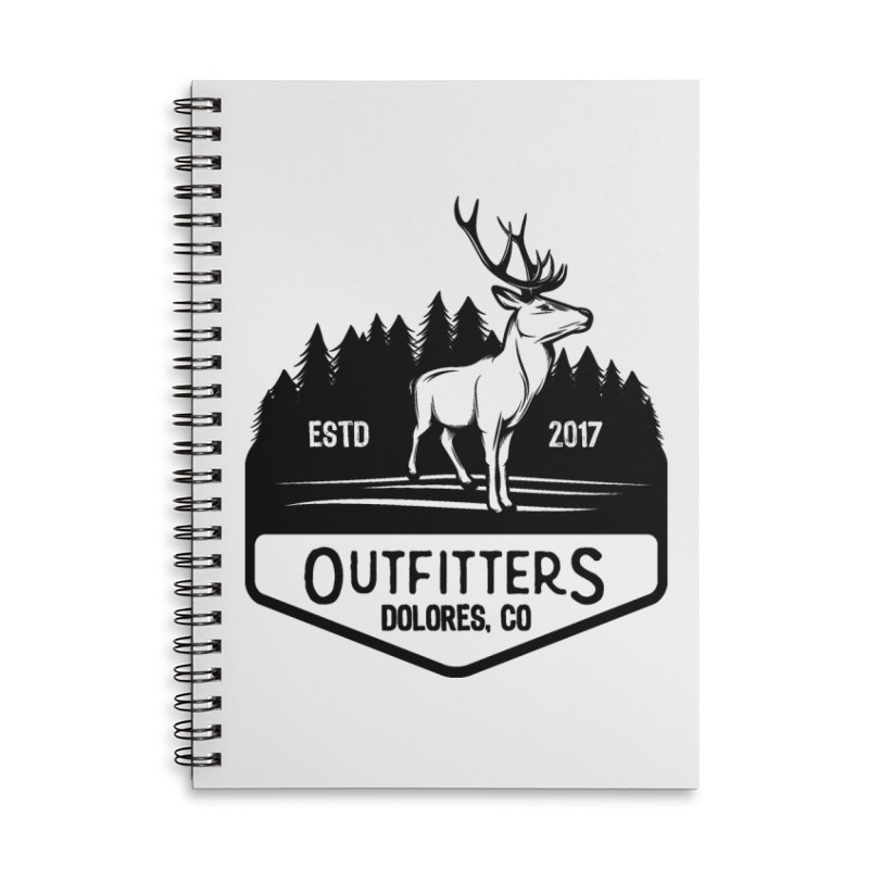 Outfitters Deer Logo Accessories Lined Spiral Notebook by dolores outfitters's Artist Shop