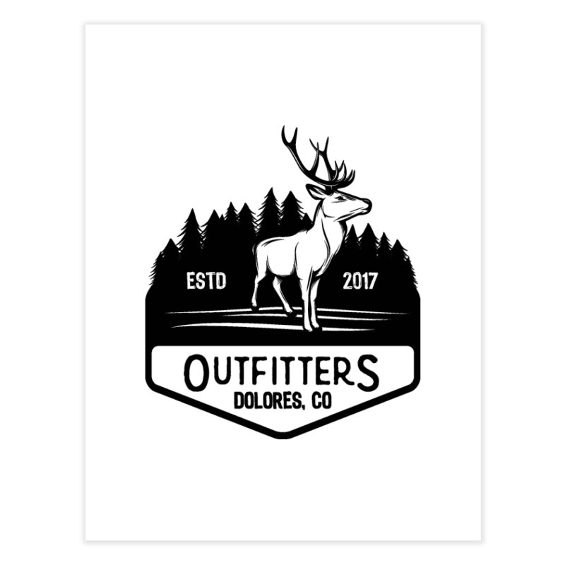 Outfitters Deer Logo Home Fine Art Print by dolores outfitters's Artist Shop