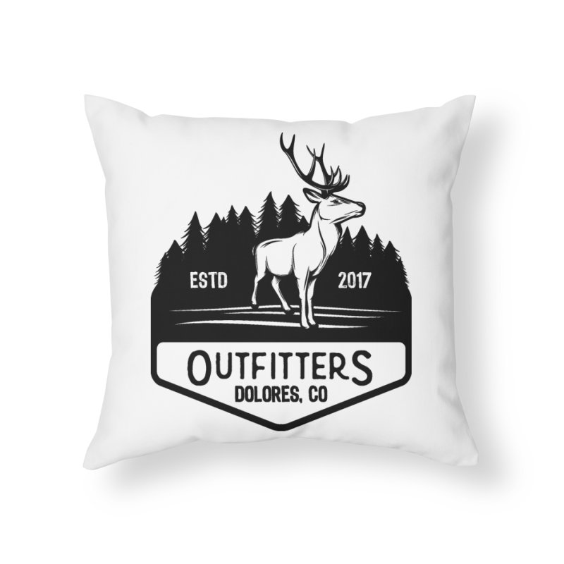 Outfitters Deer Logo Home Throw Pillow by dolores outfitters's Artist Shop