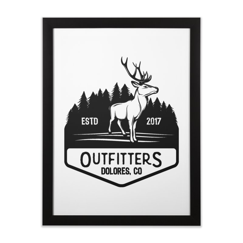 Outfitters Deer Logo Home Framed Fine Art Print by dolores outfitters's Artist Shop