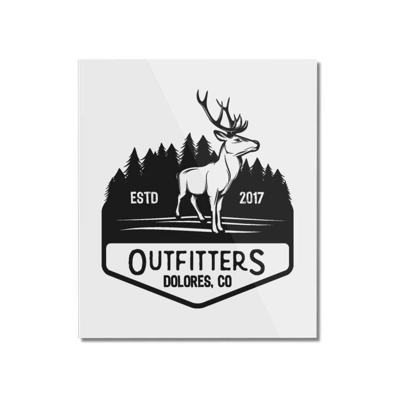 Outfitters Deer Logo Home Mounted Acrylic Print by dolores outfitters's Artist Shop