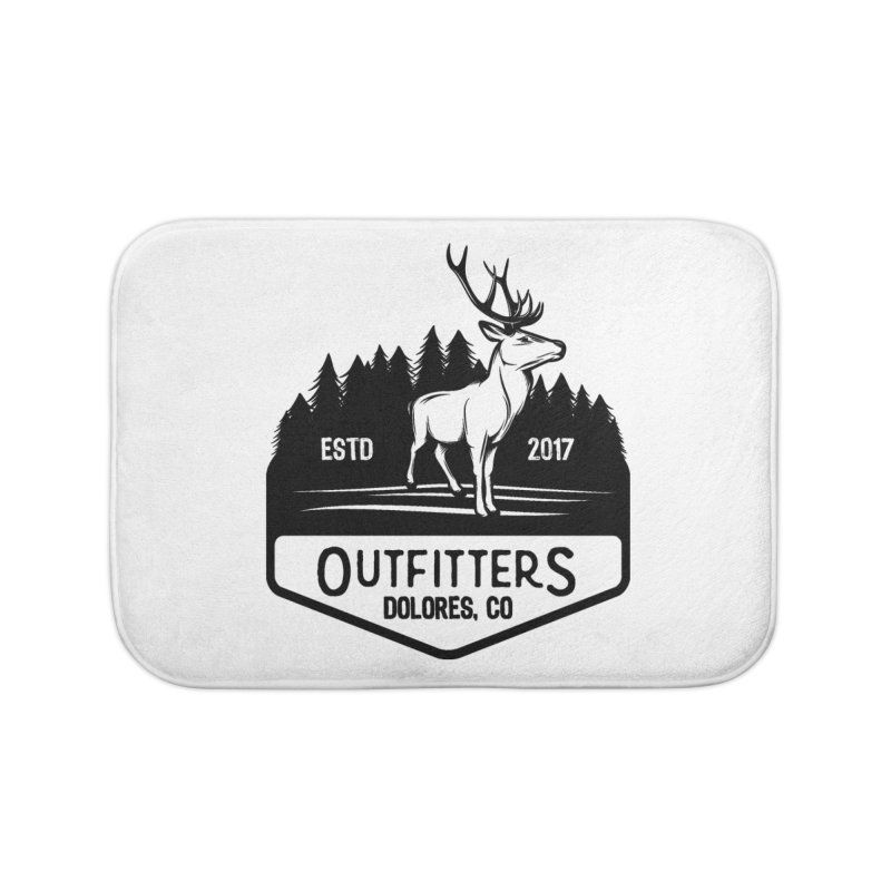 Outfitters Deer Logo Home Bath Mat by dolores outfitters's Artist Shop
