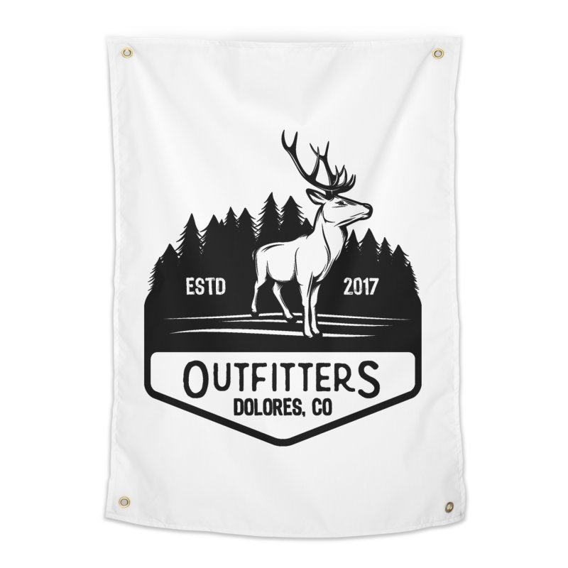 Outfitters Deer Logo Home Tapestry by dolores outfitters's Artist Shop