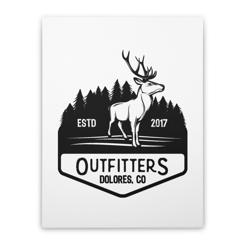 Outfitters Deer Logo Home Stretched Canvas by dolores outfitters's Artist Shop