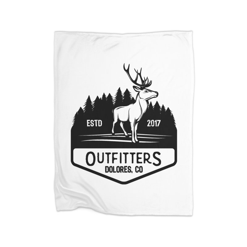Outfitters Deer Logo Home Fleece Blanket Blanket by dolores outfitters's Artist Shop