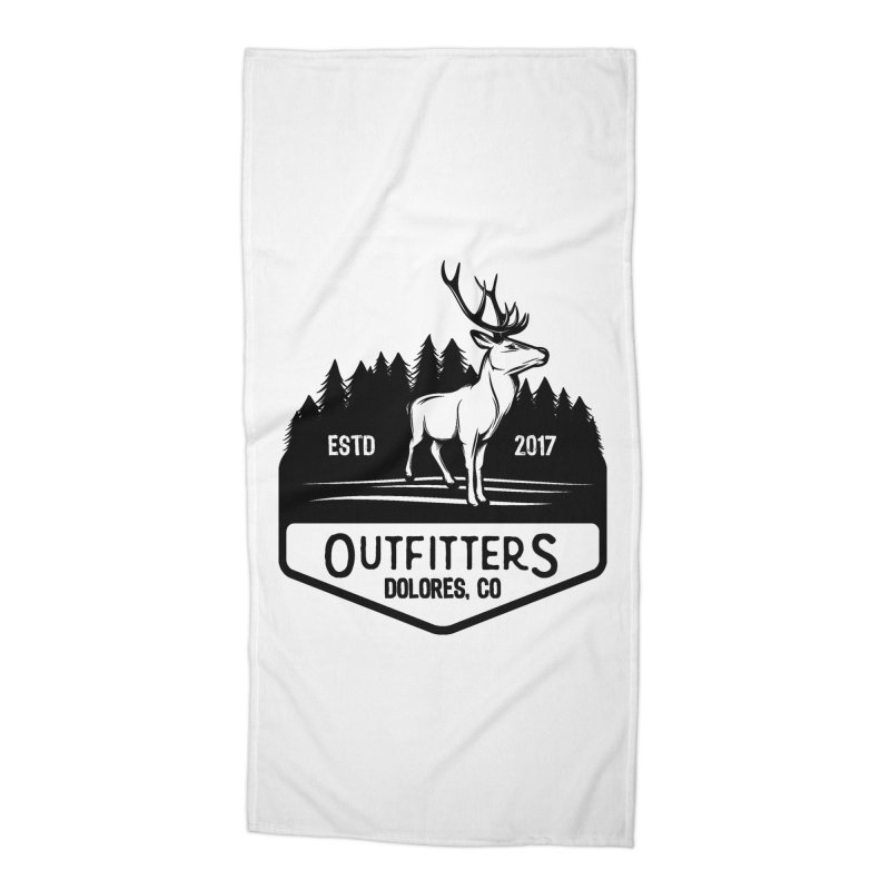 Outfitters Deer Logo Accessories Beach Towel by dolores outfitters's Artist Shop