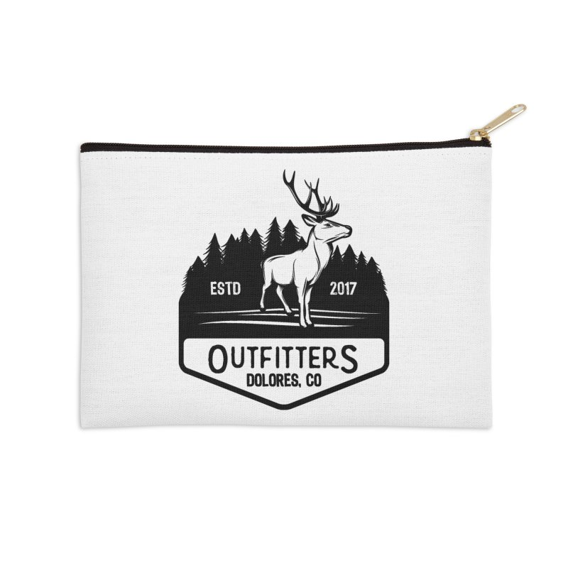 Outfitters Deer Logo Accessories Zip Pouch by dolores outfitters's Artist Shop