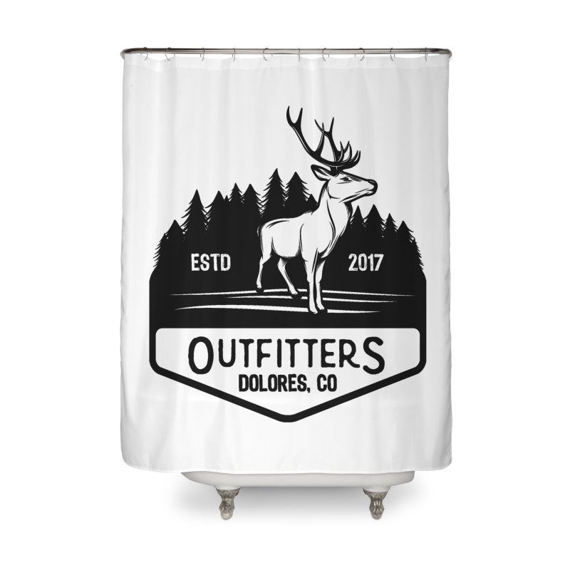 Outfitters Deer Logo Home Shower Curtain by dolores outfitters's Artist Shop