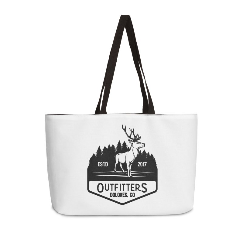 Outfitters Deer Logo Accessories Weekender Bag Bag by dolores outfitters's Artist Shop