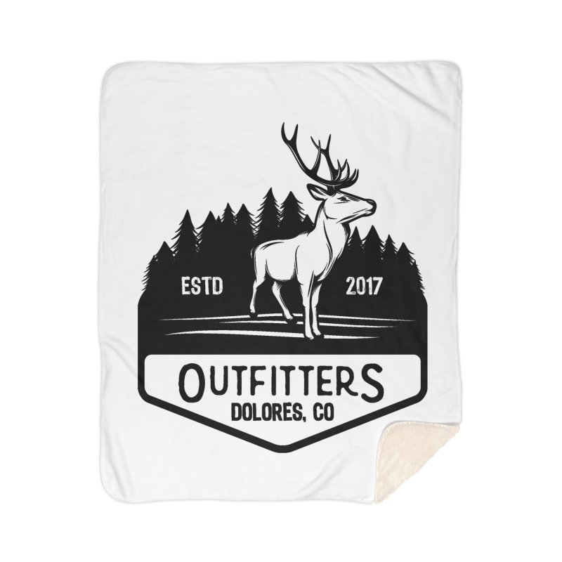 Outfitters Deer Logo Home Sherpa Blanket Blanket by dolores outfitters's Artist Shop